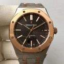 Replica Audemars Piguet Royal Oak 15400 JF Stainless Steel & Rose Gold Black Dial Swiss 3120