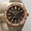Replica Audemars Piguet Royal Oak 15400 JF Stainless Steel & Diamonds Black Dial Swiss 3120