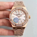 Replica Audemars Piguet Royal Oak 15450 JF Rose Gold & Diamonds Silver Dial Swiss 3120