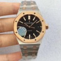 Replica Audemars Piguet Royal Oak 15450 JF Stainless Steel & Rose Gold Black Dial Swiss 3120