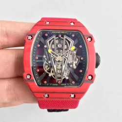 Replica Richard Mille RM27-03 Rafael Nadal KL Red Forged Carbon Black Skeleton Dial M9015