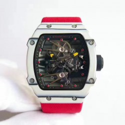 Replica Richard Mille RM27-02 Rafael Nadal KV White Forged Carbon Black Skeleton Dial M6T51