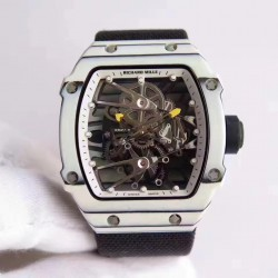 Replica Richard Mille RM27-02 Rafael Nadal KV White Forged Carbon White Skeleton Dial M6T51