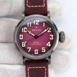 Replica Zenith Pilot Type 20 Extra Special Ton Up 45MM 11.2430.679.21.C801 XF Stainless Steel Purple Dial M9015