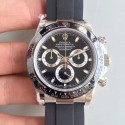 Replica Rolex Daytona Cosmograph 116519LN JH Stainless Steel Black Dial Swiss 4130 Run 6@SEC