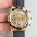 Replica Rolex Daytona Cosmograph 116518LN JH Yellow Gold Silver Dial Swiss 4130 Run 6@SEC