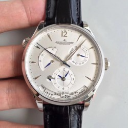 Replica Jaeger-LeCoultre Master Geographic Steel 1428421 BF Stainless Steel Silver Dial Swiss Caliber 939A/1