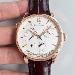 Replica Jaeger-LeCoultre Master Geographic Gold 1422521 BF Rose Gold Silver Dial Swiss Caliber 939A/1