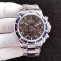 Replica Rolex Daytona Cosmograph 116599 JF Stainless Steel & Diamonds Anthracite Dial Swiss 7750 Run 6@SEC