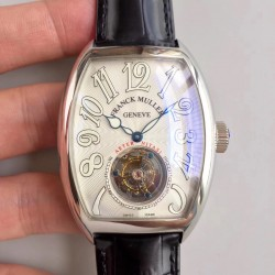 Replica Franck Muller Cintree Curvex Imperial Tourbillon 8880 T LH Stainless Steel White Dial Swiss Tourbillon