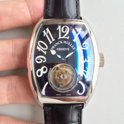 Replica Franck Muller Cintree Curvex Imperial Tourbillon 8880 T LH Stainless Steel Black Dial Swiss Tourbillon