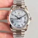 Replica Rolex Day-Date 40 228206 40MM N Stainless Steel Ice Blue Quadrant Dial Swiss 3255