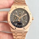 Replica Audemars Piguet Royal Oak Perpetual Calendar 41MM 26574OR.OO.1220OR.01 BF Rose Gold Black Dial Swiss 5134