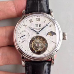 Replica Patek Philippe Grand Complication Tourbillon N Stainless Steel White Dial Swiss Tourbillon