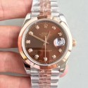 Replica Rolex Datejust II 116333 41MM N Stainless Steel & Rose Gold Chocolate Dial Swiss 3235