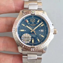 Replica Breitling Colt Automatic 44MM A1738811-C906-173A GF Stainless Steel Blue Dial Swiss 2824-2