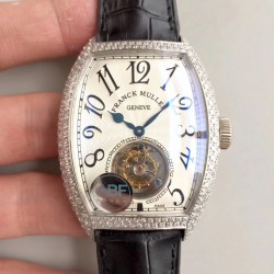 Replica Franck Muller Cintree Curvex Imperial Tourbillon 8880 T ABF Stainless Steel & Diamonds White Dial Swiss Tourbillon