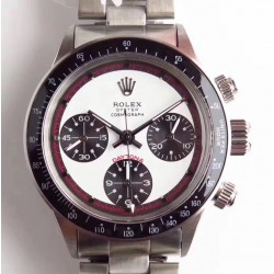 Replica Rolex Daytona Cosmograph Paul Newman 6241 N Stainless Steel White Dial Valjoux 72