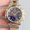 Replica Rolex Daytona Cosmograph 116503 3A 18K Yellow Gold Wrapped & Stainless Steel 904L Blue Dial Swiss 7750 Run 6@SEC