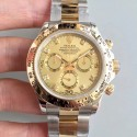 Replica Rolex Daytona Cosmograph 116503 3A 18K Yellow Gold Wrapped & Stainless Steel 904L Champagne Dial Swiss 7750 Run 6@SEC