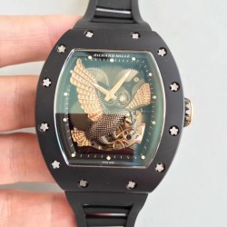 Replica Richard Mille RM023 KV Ceramic Rose Gold Eagle Skeleton Dial M8215