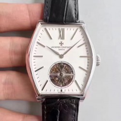 Replica Vacheron Constantin Malte Tourbillon 30130/000R-9754 JF Stainless Steel White Dial Swiss 2795