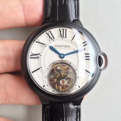 Replica Ballon Bleu De Cartier Tourbillon 2018 42MM N PVD White Dial Swiss Tourbillon