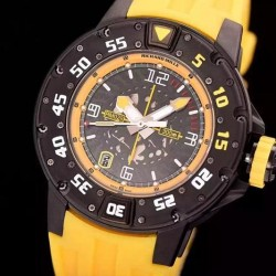 Replica Richard Mille RM028 PVD Yellow Dial Swiss 7751