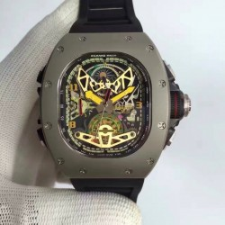 Replica Richard Mille RM50-02 ACJ KV PVD Skeleton Dial M6T51