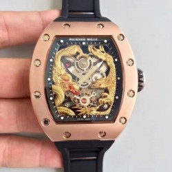 Replica Richard Mille RM57-01 Jackie Chan Rose Gold Yellow Gold Dial M9015