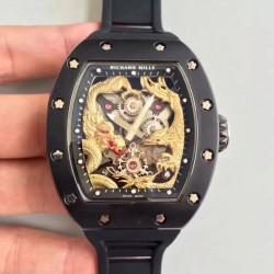 Replica Richard Mille RM57-01 Jackie Chan PVD Yellow Gold Dial Dial M9015