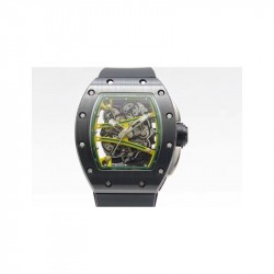 Replica Richard Mille RM59-01M Black Ceramic Green Skeleton Dial M8215