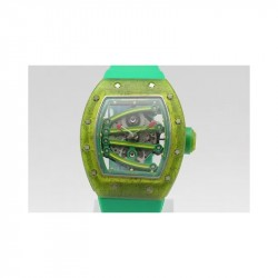 Replica Richard Mille RM 59-01 Tourbillon Yohan Blake Translucent Green Composite Skeleton Green Dial M9015