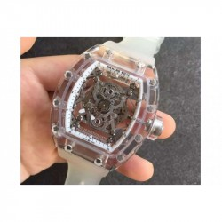Replica Richard Mille RM056-02 Shappire White & Skeleton Dial M9015