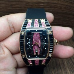 Replica Richard Mille RM007 Lady Rose Gold Pink Diamonds Dial M6T51