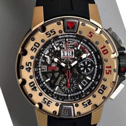 Replica Richard Mille RM032 Rose Gold Black Dial Swiss 7750