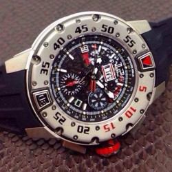 Replica Richard Mille RM032 Stainless Steel Black Dial Swiss 7750