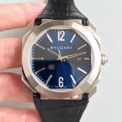 Replica Bvlgari Octo Solotempo 101964 JL Stainless Steel Blue Dial Swiss BVL193