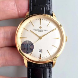 Replica Vacheron Constantin Patrimony 85180/000J-9231 MK Yellow Gold White Dial Swiss 2450 Q6