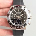 Replica Rolex Daytona Cosmograph 116519LN AR Stainless Steel 904L Black Dial Swiss 4130 Run 6@SEC