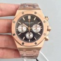 Replica Audemars Piguet Royal Oak Chronograph 26331 JH Rose Gold Black Dial Swiss 7750