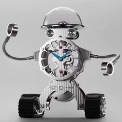 Replica MB&F Sherman Happy Robot Clock Limited Edition ZF Stainless Steel Grey Skeleton Dial Swiss Custom L'Epee Tourbillon