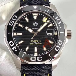 Replica Tag Heuer Aquaracer Calibre 5 WAY211A.FC6362 HBB V6 Stainless Steel Black Dial Swiss 2824-2