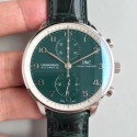 Replica IWC Portugieser Chronograph Edition 150 Years IW371601 YL Stainless Steel Green Dial Swiss 69355
