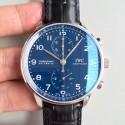 Replica IWC Portugieser Chronograph Edition 150 Years IW371601 YL Stainless Steel Blue Dial Swiss 69355