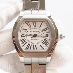 Replica Cartier Roadster W6206017 CG Stainless Steel White Dial Swiss 2892