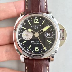 Replica Panerai Luminor GMT PAM088 N Stainless Steel Black Dial Swiss 7750