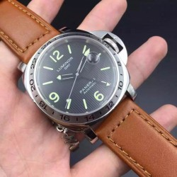 Replica Panerai Luminor GMT PAM029 N Stainless Steel Black Dial Swiss 2836-2