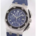 Replica Audemars Piguet Royal Oak Offshore Juan Pablo Montoya 26030PO.00.D021IN.01 JF V2 Stainless Steel Blue Dial Swiss 2840