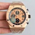 Replica Audemars Piguet Royal Oak Offshore 26470OR.OO.1000OR.01 JF V2 Rose Gold Gold Dial Swiss 3126